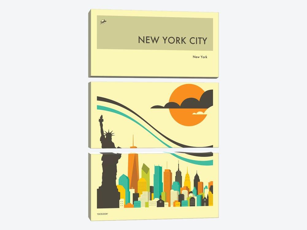 New York Skyline II by Jazzberry Blue 3-piece Canvas Print