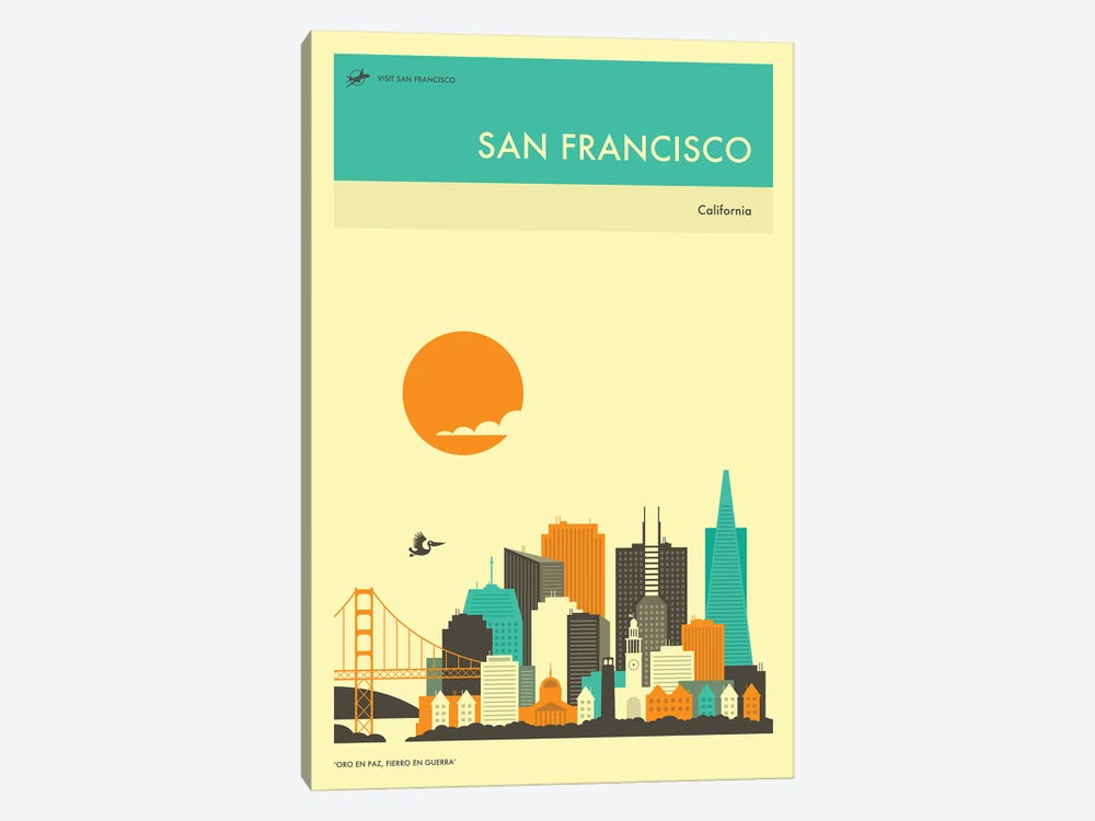 San Francisco Skyline II by Jazzberry Blue 1-piece Canvas Art
