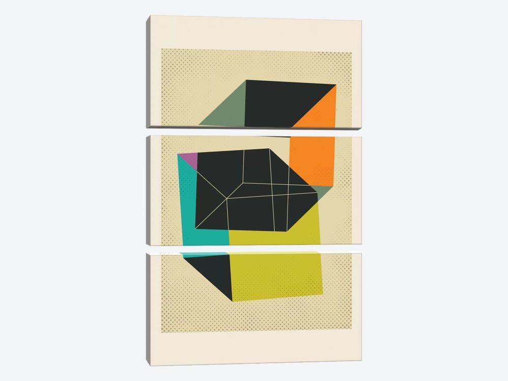 Cubes V by Jazzberry Blue 3-piece Canvas Artwork