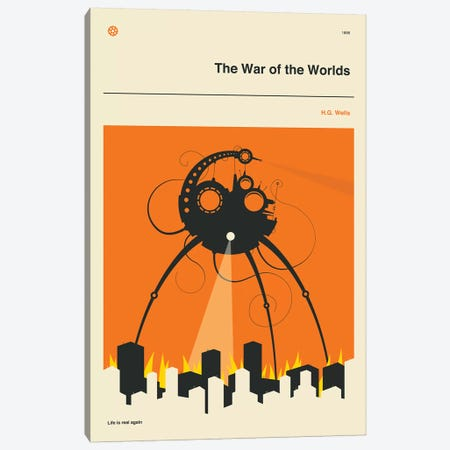 The War Of The Worlds Canvas Print #JBL284} by Jazzberry Blue Canvas Art