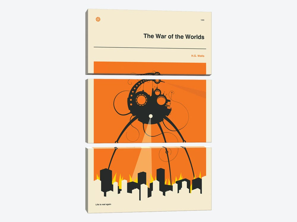 The War Of The Worlds by Jazzberry Blue 3-piece Canvas Wall Art