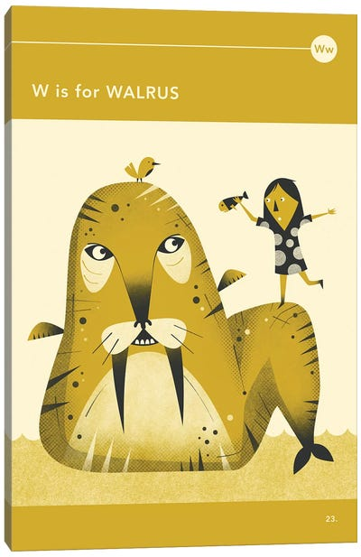 W Is For Walrus Canvas Art Print