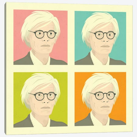 Warhol Canvas Print #JBL288} by Jazzberry Blue Art Print