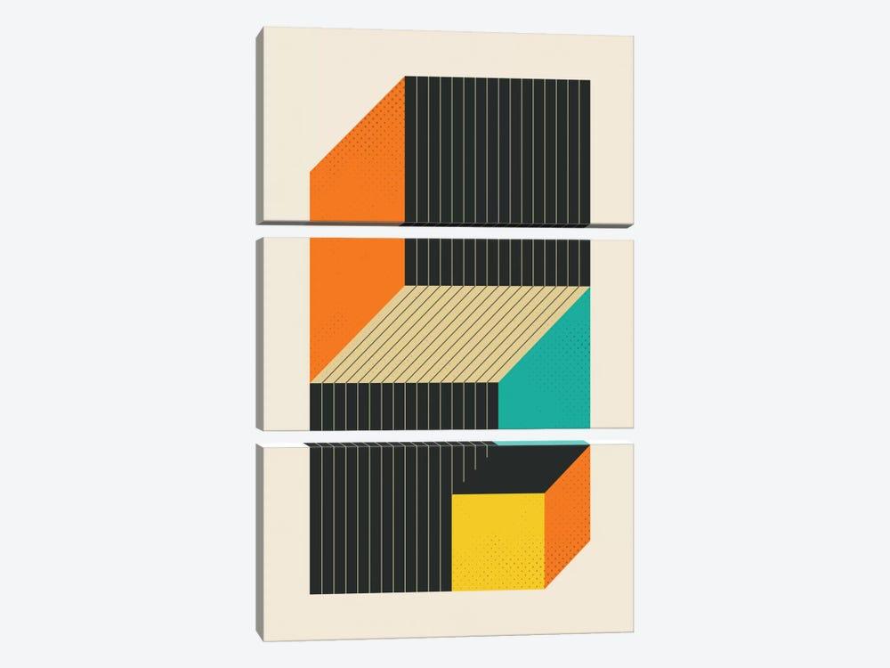 Cubes VI by Jazzberry Blue 3-piece Art Print