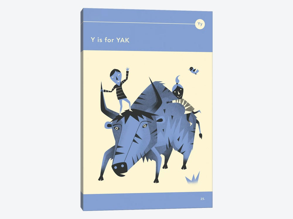 Y Is For Yak by Jazzberry Blue 1-piece Art Print