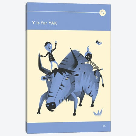Y Is For Yak Canvas Print #JBL290} by Jazzberry Blue Canvas Wall Art
