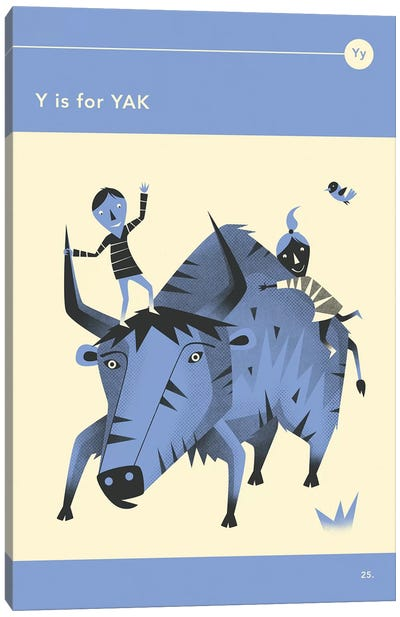 Y Is For Yak Canvas Art Print