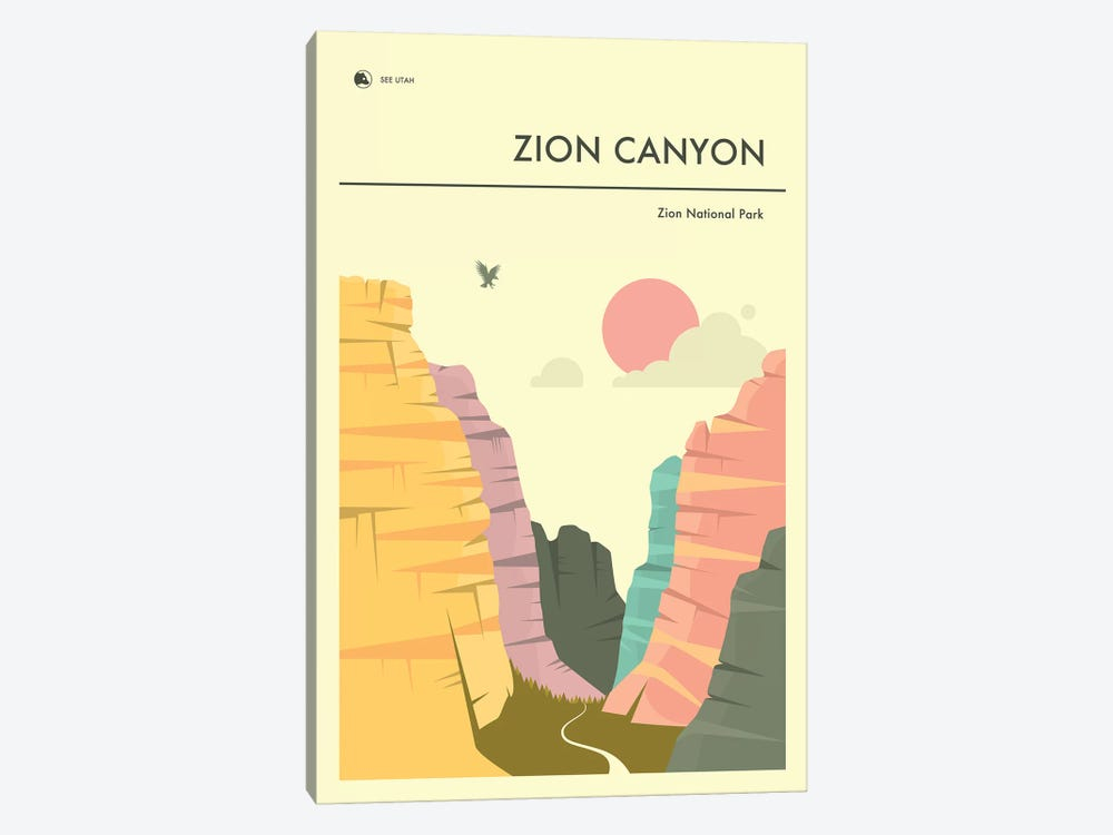 Zion Canyon, Zion National Park II by Jazzberry Blue 1-piece Canvas Artwork