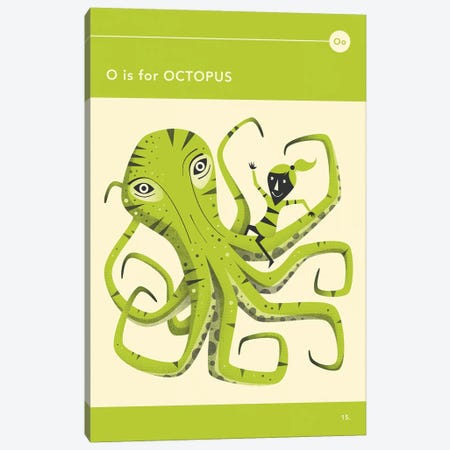 O Is For Octopus  Canvas Print #JBL297} by Jazzberry Blue Canvas Print