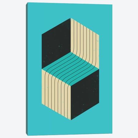 Cubes VII Canvas Print #JBL29} by Jazzberry Blue Art Print