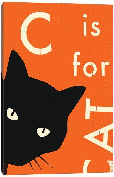 C For Cat I Canvas Art Print