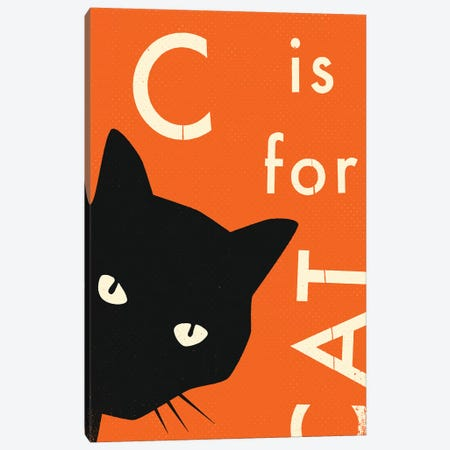 C For Cat I Canvas Print #JBL303} by Jazzberry Blue Canvas Wall Art
