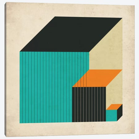 Cubes XI Canvas Print #JBL31} by Jazzberry Blue Canvas Artwork