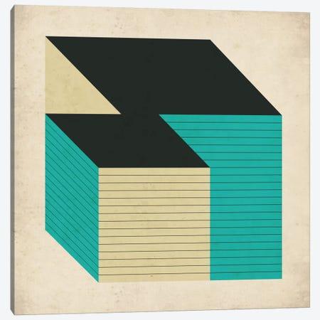 Cubes XII Canvas Print #JBL32} by Jazzberry Blue Canvas Wall Art