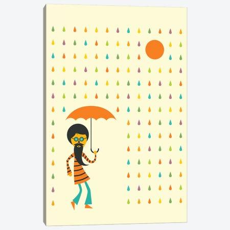 Psychedelic Rain 3-Piece Canvas #JBL333} by Jazzberry Blue Canvas Art Print