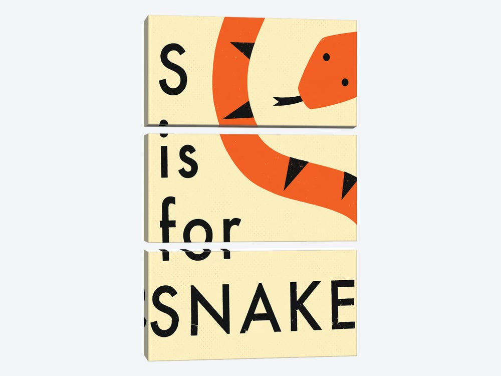 S For Snake III by Jazzberry Blue 3-piece Canvas Artwork