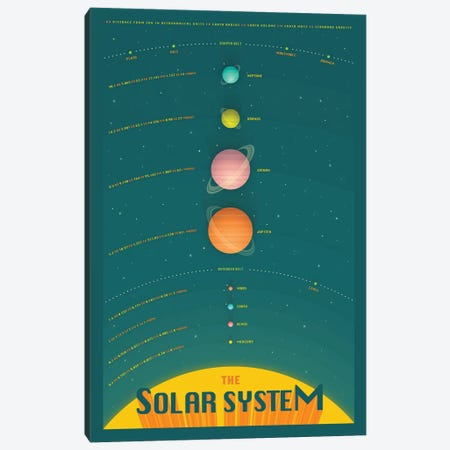 Solar System IV Canvas Print #JBL337} by Jazzberry Blue Canvas Artwork