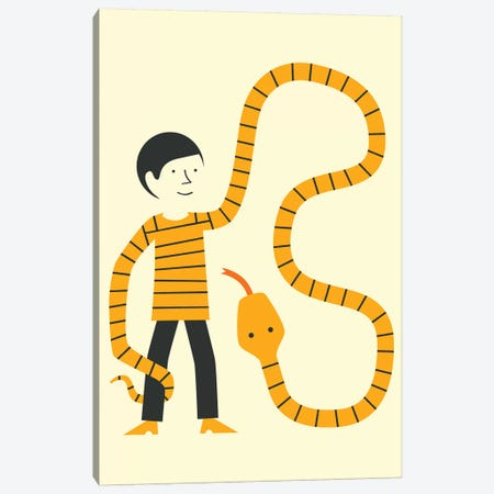 Sweater Snake Canvas Print #JBL339} by Jazzberry Blue Art Print