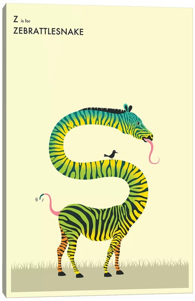 Zebrattlesnake Canvas Art Print