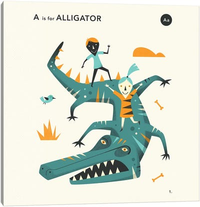 A Is For Alligator II Canvas Art Print