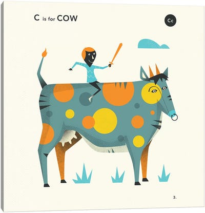 C Is For Cow  II Canvas Art Print