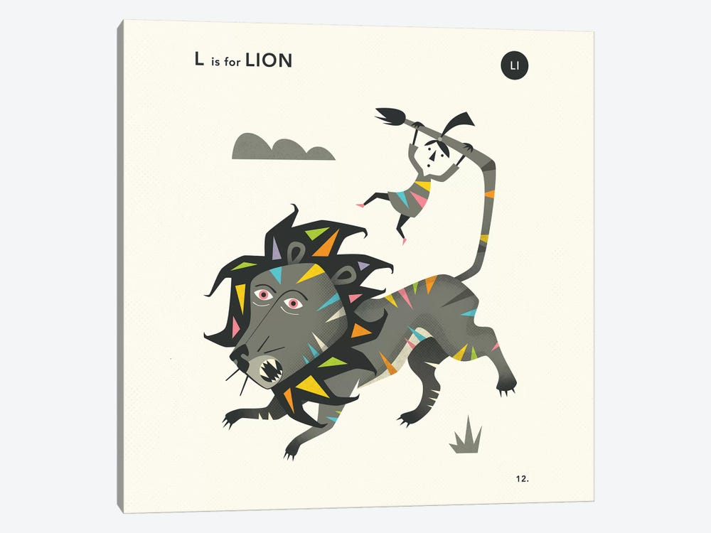 L Is For Lion  II by Jazzberry Blue 1-piece Art Print
