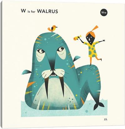 W Is For Walrus II Canvas Art Print