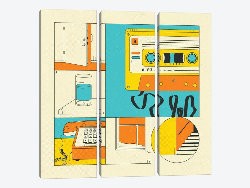 Rewind by Jazzberry Blue 3-piece Art Print