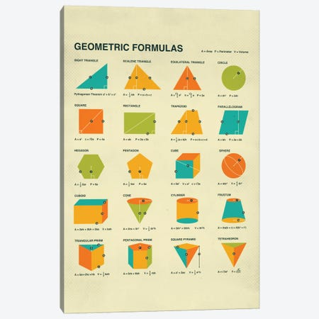 Geometric Formulas Canvas Print #JBL47} by Jazzberry Blue Canvas Art