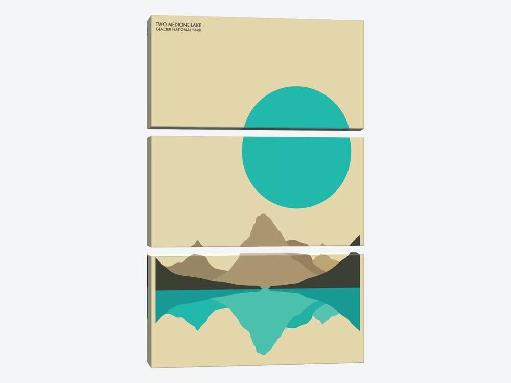 Glacier by Jazzberry Blue 3-piece Canvas Print