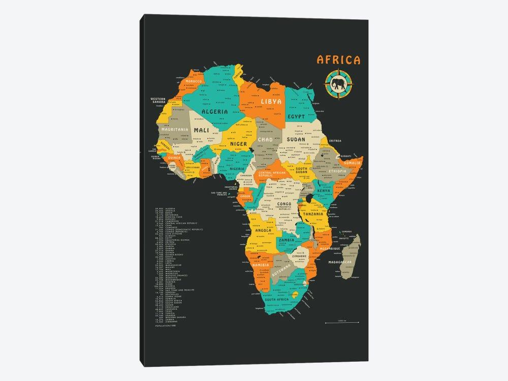 Africa Map by Jazzberry Blue 1-piece Art Print