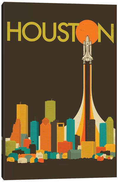 Houston Skyline I Canvas Art Print