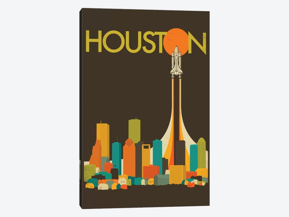 Houston Skyline I by Jazzberry Blue 1-piece Canvas Art Print