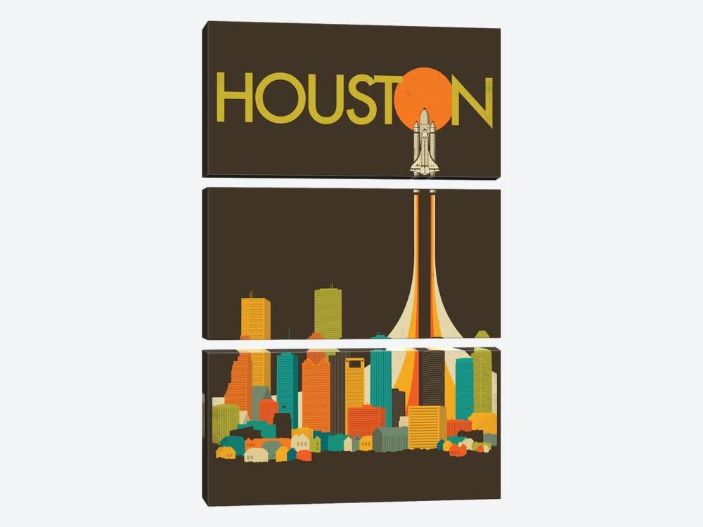 Houston Skyline I by Jazzberry Blue 3-piece Canvas Art Print