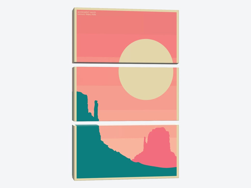 Monument Valley I by Jazzberry Blue 3-piece Canvas Print