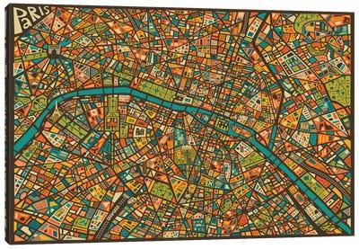 Paris Street Map Canvas Print #JBL60