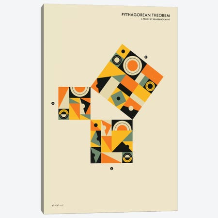 Pythagorean Theorem I Canvas Print #JBL62} by Jazzberry Blue Canvas Print