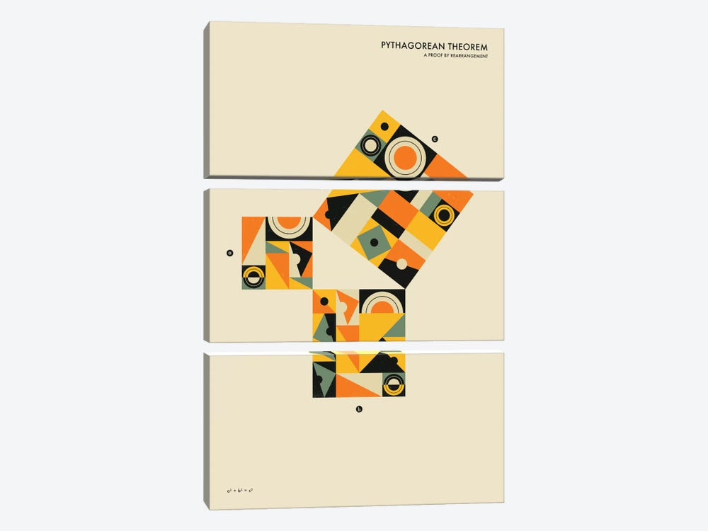 Pythagorean Theorem I by Jazzberry Blue 3-piece Art Print