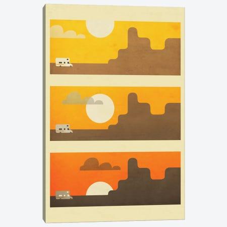 RV Sunset Canvas Print #JBL65} by Jazzberry Blue Canvas Wall Art