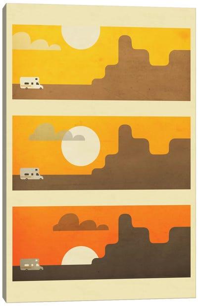 RV Sunset Canvas Art Print