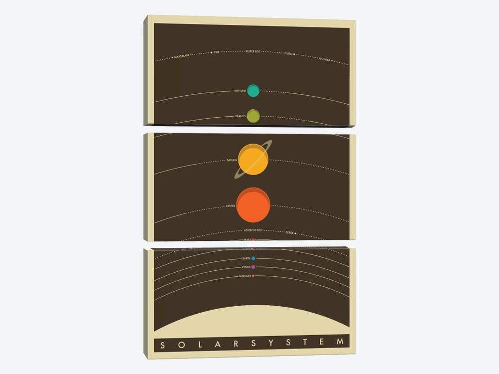 Solar System by Jazzberry Blue 3-piece Canvas Print