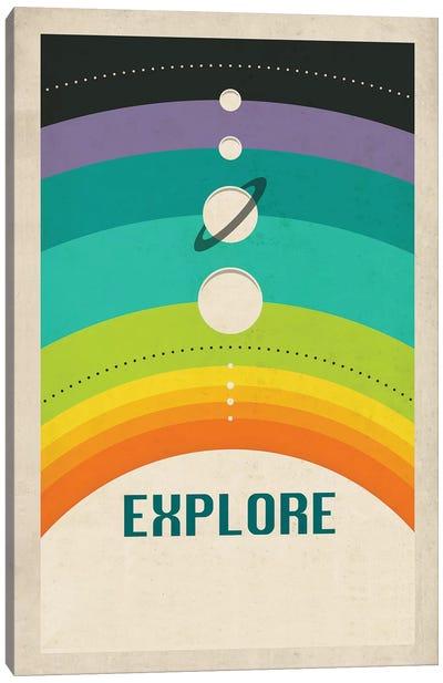 Solar System (Colored) Canvas Print #JBL69