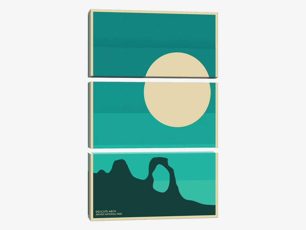 Arches by Jazzberry Blue 3-piece Canvas Print
