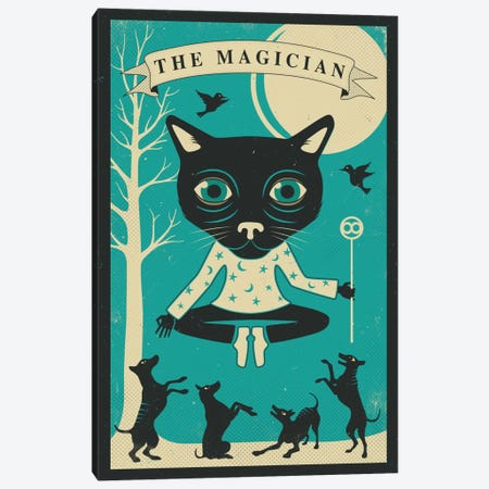 Tarot Card Cat Magician Canvas Print #JBL74} by Jazzberry Blue Canvas Art Print