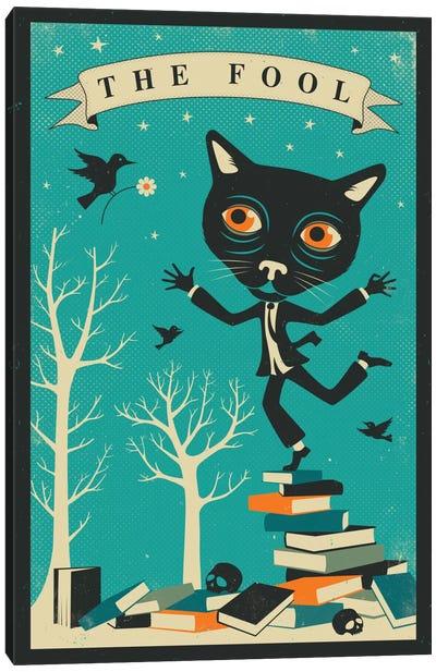 Tarot Card Cat The Fool Canvas Print #JBL75
