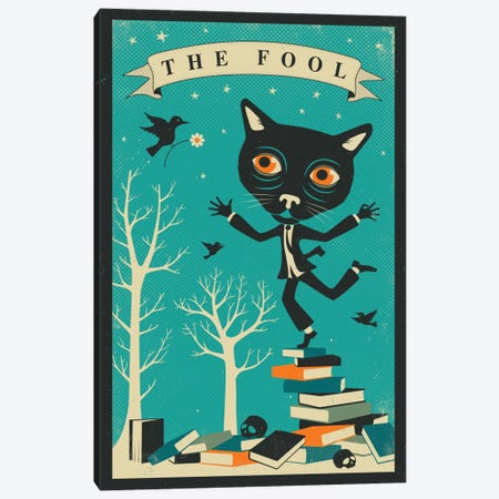 Tarot Card Cat The Fool Canvas Print #JBL75} by Jazzberry Blue Art Print