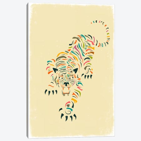 Tiger Canvas Print #JBL77} by Jazzberry Blue Art Print