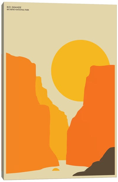 Big Bend Canvas Art Print