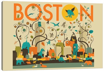 Wild Boston Canvas Art Print
