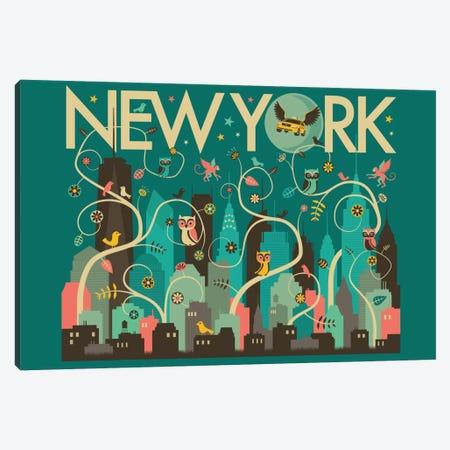 Wild New York Canvas Print #JBL81} by Jazzberry Blue Canvas Print